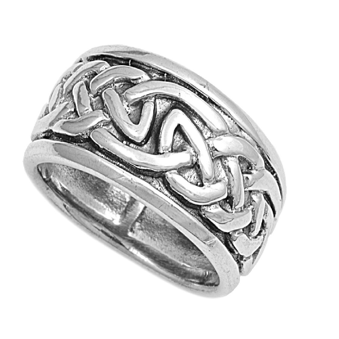 Princess Kylie 925 Sterling Silver Celtic Linked Chain Ring