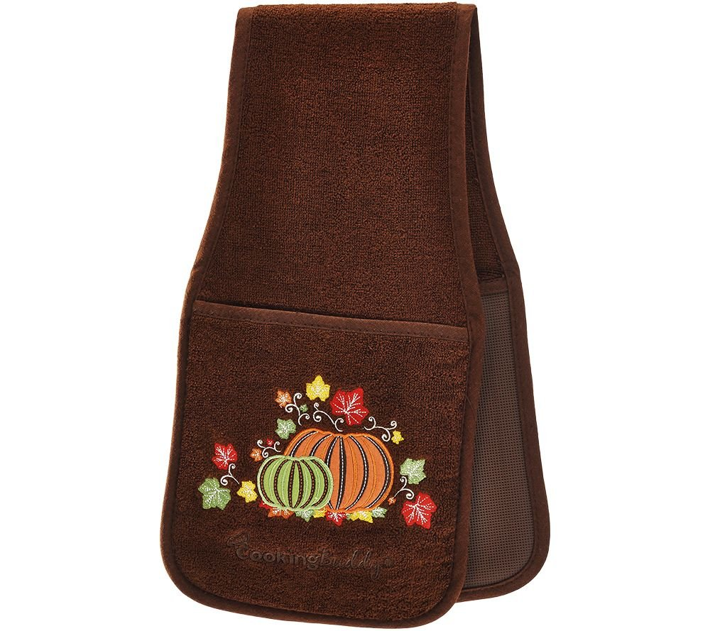Campanelli's Cooking Buddy - Professional Grade All-In-One Pot Holder, Hand Towel, Lid Grip, Tool Caddy, and Trivet. Heat Resistant up to 500ºF! As Seen On QVC. (Limited Edition: Harvest Brown) by Campanelli Products (Image #1)