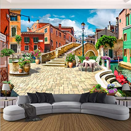 3D Wallpaper Murals Decorations Stickers Wall European City City