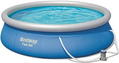 Bestway 57321 Fast Set Pool 396 x 84 cm, con Bomba de Filtro, Color