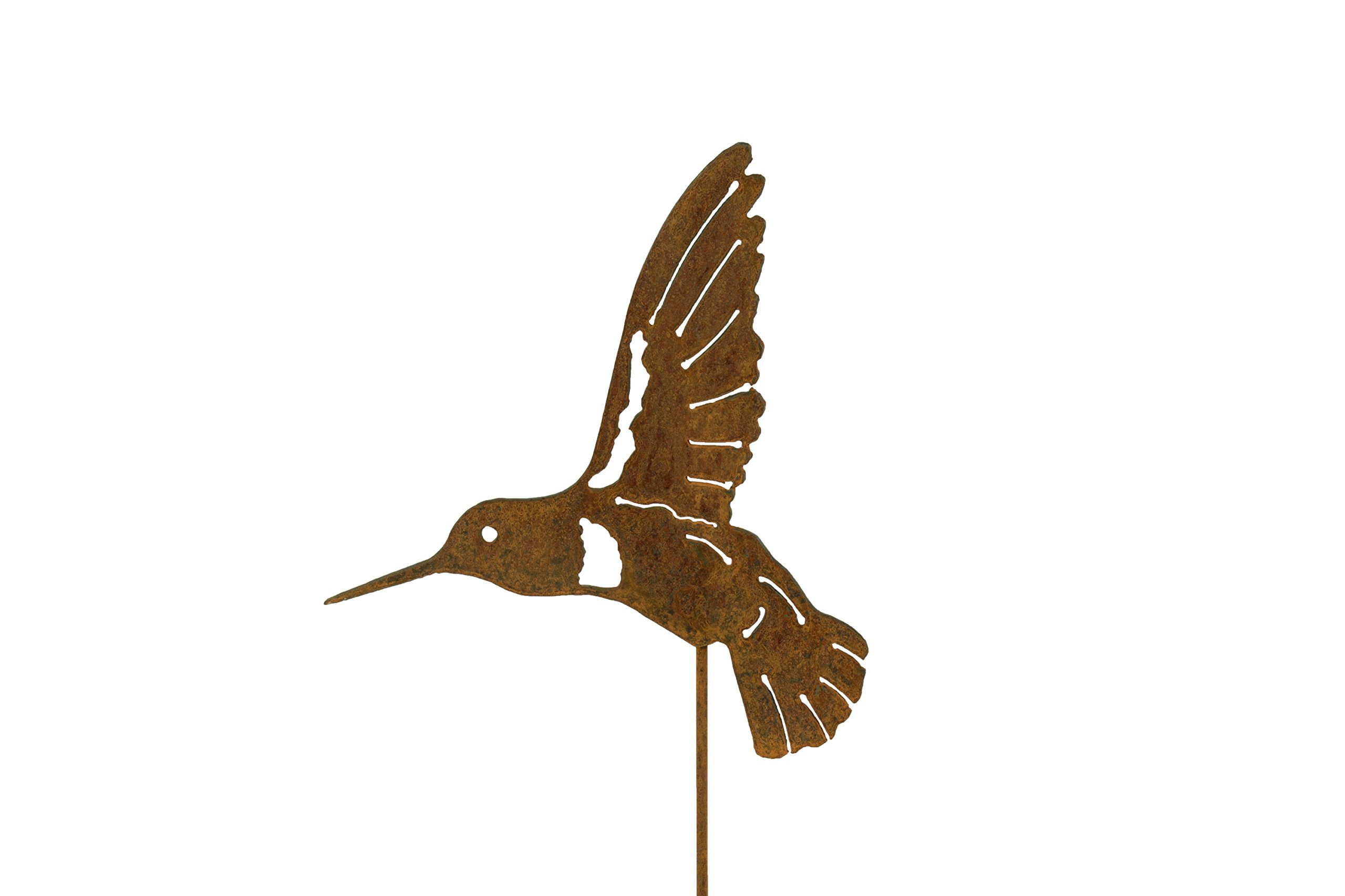 Hummingbird Pick Single Wing | Hummingbird Gifts | Hummingbird Art for Outdoors | Garden Decor | Garden Gifts | Garden Sign | Garden Art | Gardening | Garden Statue | Rusty | Metal | Metal Art