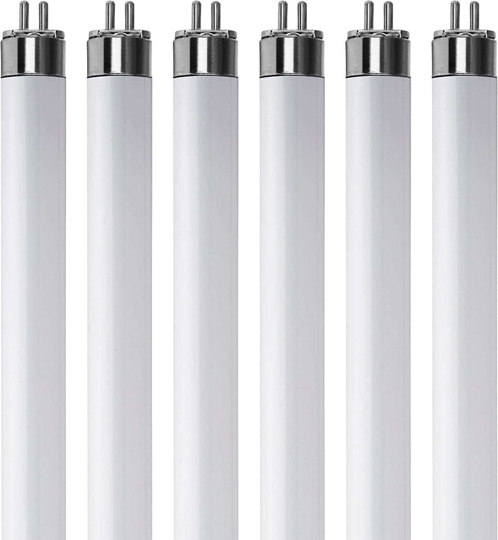 "(Pack Of 6) F13T5/WW - T5 Fluorescent 3000K Warm White - 13 Watt - 21"" Super Long Life Light Bulbs"