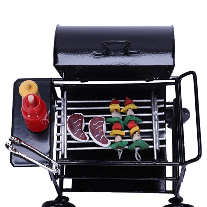 Amazon.com: SODIAL 1:12 Doll House DIY Barbecue Car + ...