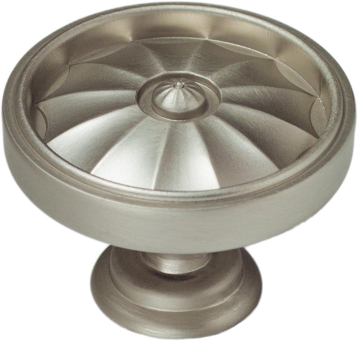 Continental Hardware - RL061039 - Sumner Street 1-5/8 in. (41mm) Flare Round Cabinet Knob, Satin Nickel