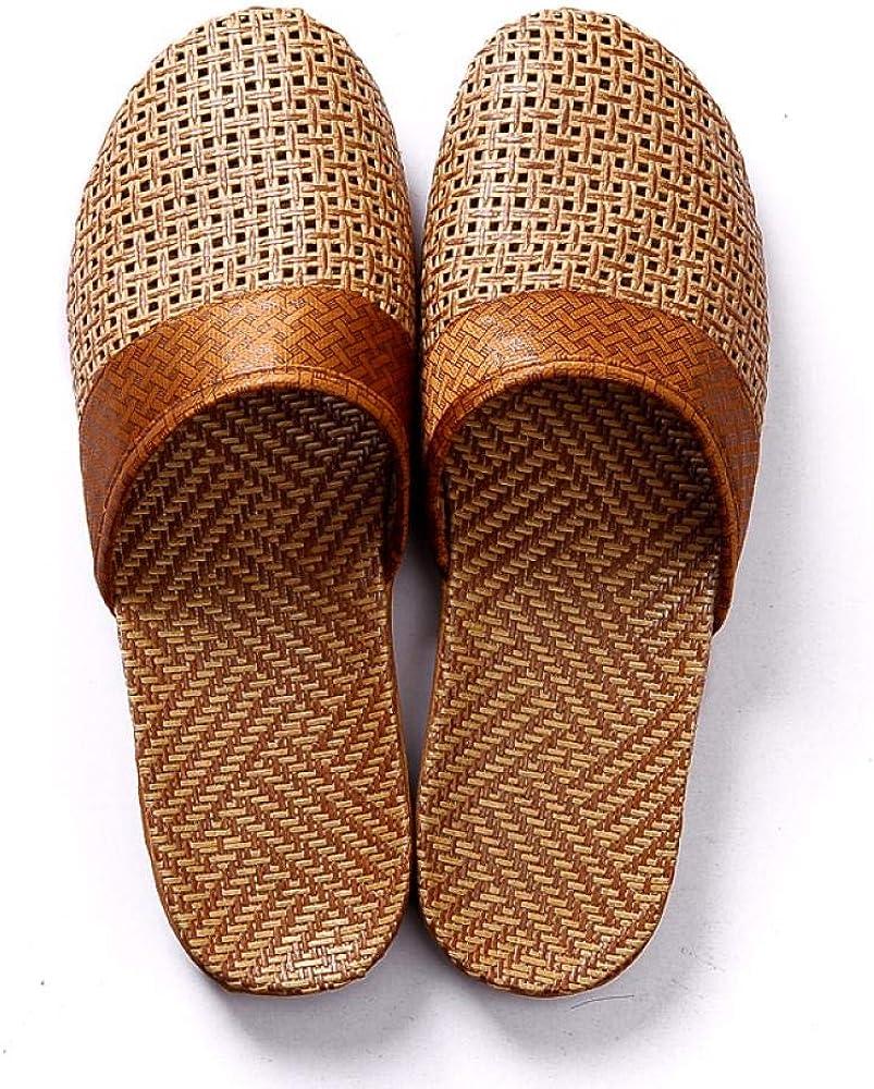 Linen Slippers Anti-Slip Flat Indoor Home Slipper Outdoor Beach Shoes