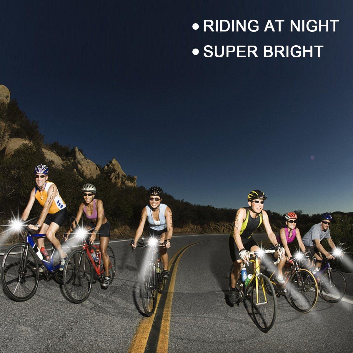 Joylink USB Recargables Bicicleta L/ámpara Brillante Funciona con Energ/ía Solar LED Luz Delantera de la Bici y Luz de la Cola Impermeable Luces Ciclismo Bike Light Set Luces Bicicleta