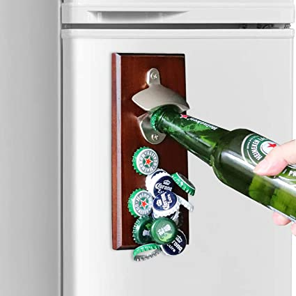 Gifts for Men Dad, Wall Mounted Magnetic Bottle Opener