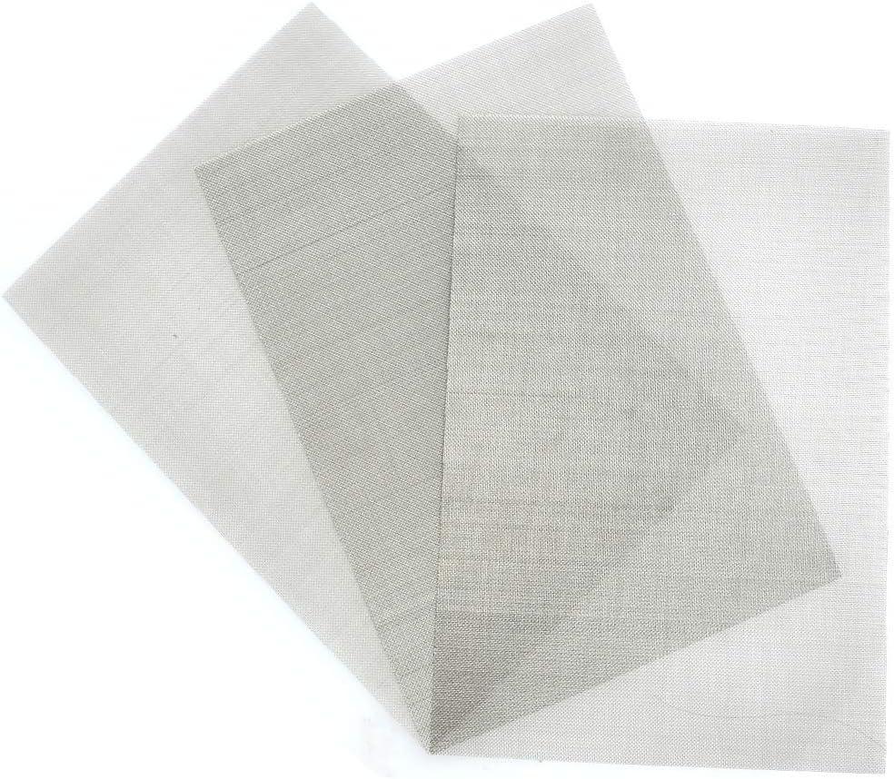 TIMESETL 3PCS Tissu de Treillis m/étallique Maille dacier Inoxydable 304 Filtration en Feuilles Filtre d/écran 300 x 210 mm