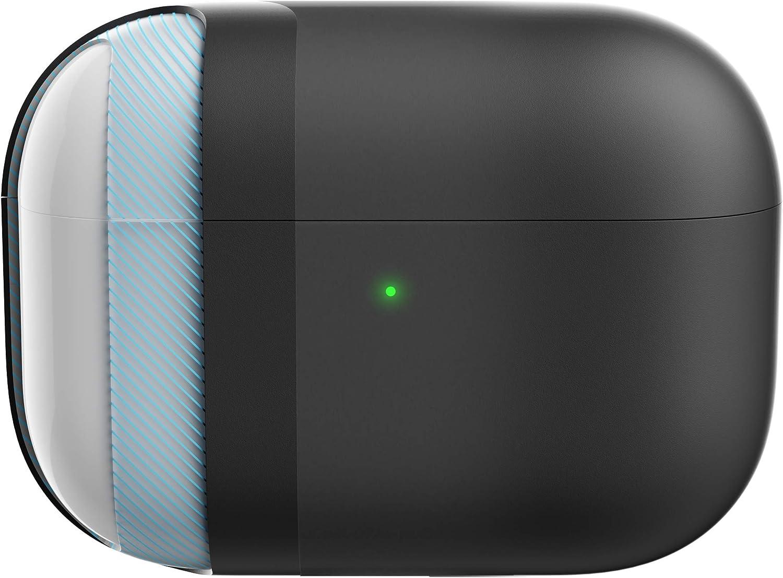 KeyBudz Hybrid Shell Hard Cover for Apple AirPods Pro Case (Black)