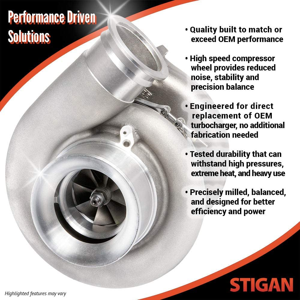 Stigan 847-1454 New New Stigan Turbo Turbocharger For Cummins 4BTA Diesel /& Komatsu Replaces 3537033 3537562 3538288 3539710 3590127 3592015