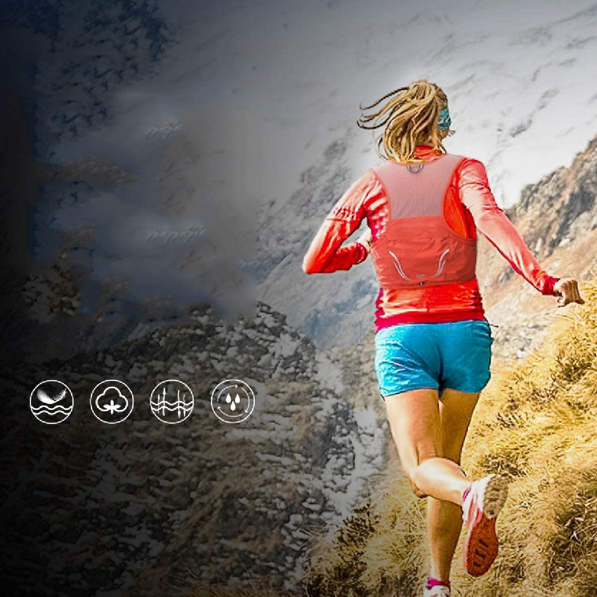 Azarxis Sac /à Dos Running Sac Trail 2,5L Gilet Trail Hydratation Sac dhydratation Trail L/éger pour Homme Femme Marathon Randonn/ée Escalade Course