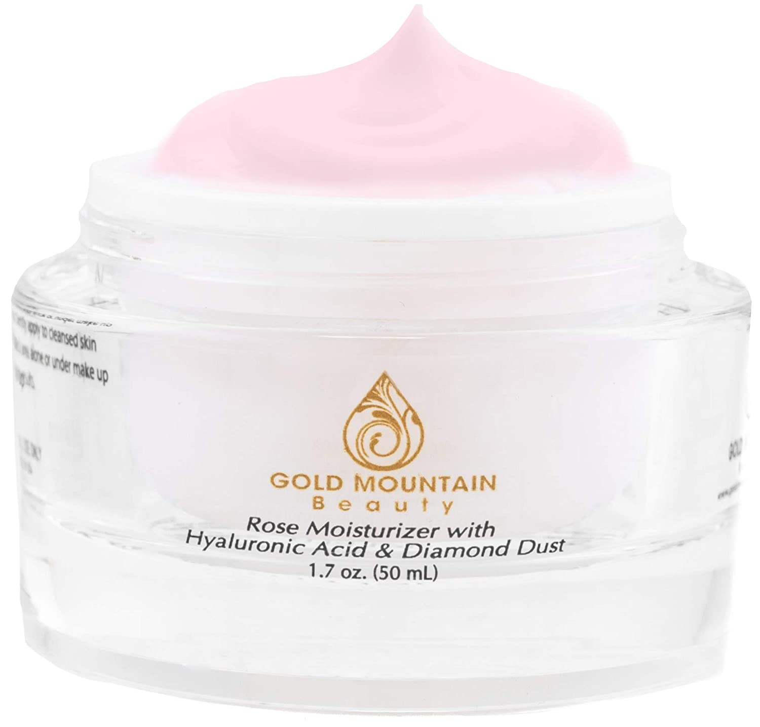 Anti Aging Face Cream Moisturizer - with Rose Scent, Hyaluronic Acid and Diamond Dust, Anti-Aging Anti-Wrinkle Night Cream for Woman and Men, Skin Care