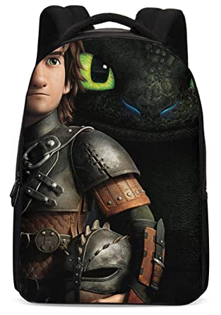 8fbca54d69e Amazon.com: How to Train Your Dragon Backpack Hiccup Cosplay Bag Waterproof  Schoolbag for Men Boys D002-TY01-K3B11: Clothing