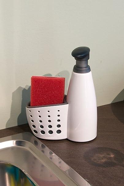 Eddingtons Casabella - Dispensador de jabón y recipiente para el estropajo, color beige y gris: Amazon.es: Hogar