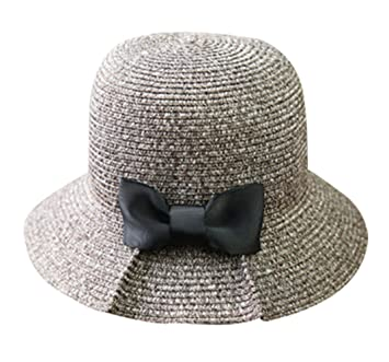Cuddty Bowknot Cap Panamá Cubo Sombrero Verano Sol Visera Gorro para Mujer Viaje Playa Senderismo Headwear, café: Amazon.es: Deportes y aire libre