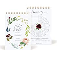 Bliss Collections Habit Tracker Calendar Notepad, Gold Spiral Bound Botanical Floral Journal to Track Progress and Reach…