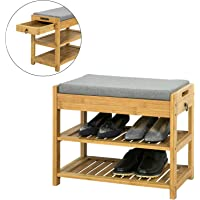 vidaXL Solid Acacia Wood Bench 145cm Living Room Entryway Furniture Stand Rack
