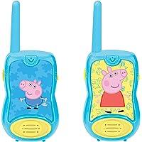 Lexibook 8597478 TW12PP Peppa Pig Walkie-talkies, voor kinderen, riemclip, batterij, blauw