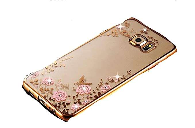 Amazon.com: Bling Diamond Clear Case for Samsung S8 S9 A8 A6 ...