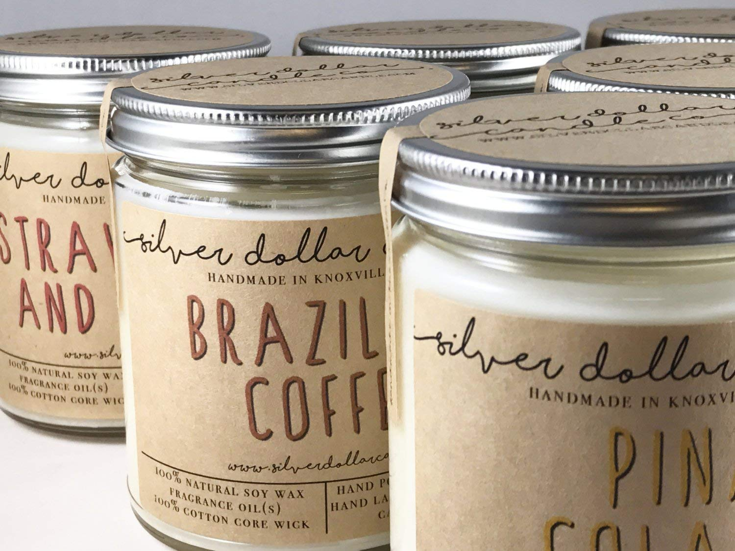 Personalized 8oz Handmade 100% Soy Wax Scented Candle by Silver Dollar Candle Co. by Silver Dollar Candle Co. (Image #8)