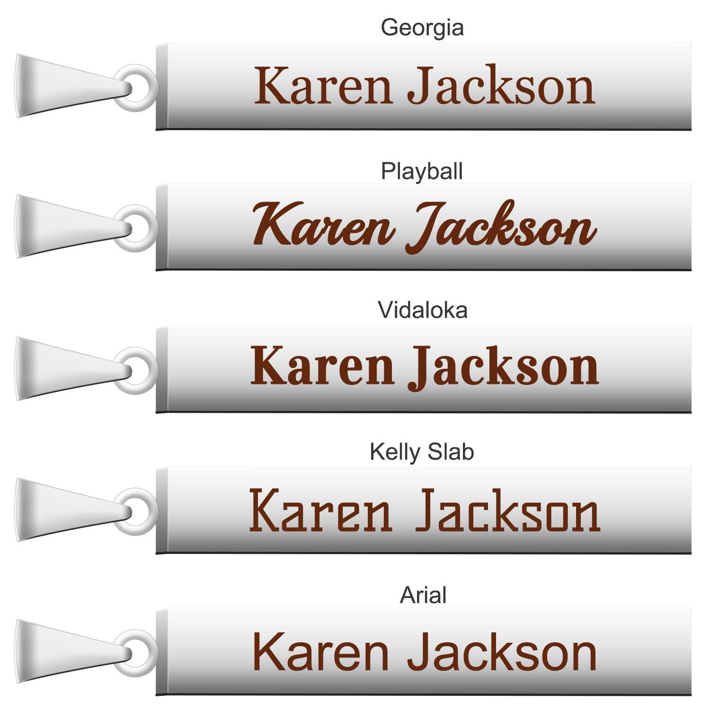 ABIsedrin Collar con Nombre Personalizado,Collar para Mujer y Hombre Collar de Barra con Caja de Regalo