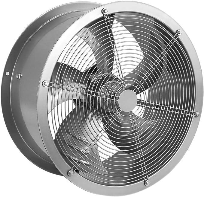 PrimeMatik - Extractor de Aire de Tubo de 500 mm para ventilación Industrial 1350 RPM Redondo 580x580x260 mm Plateado: Amazon.es: Electrónica