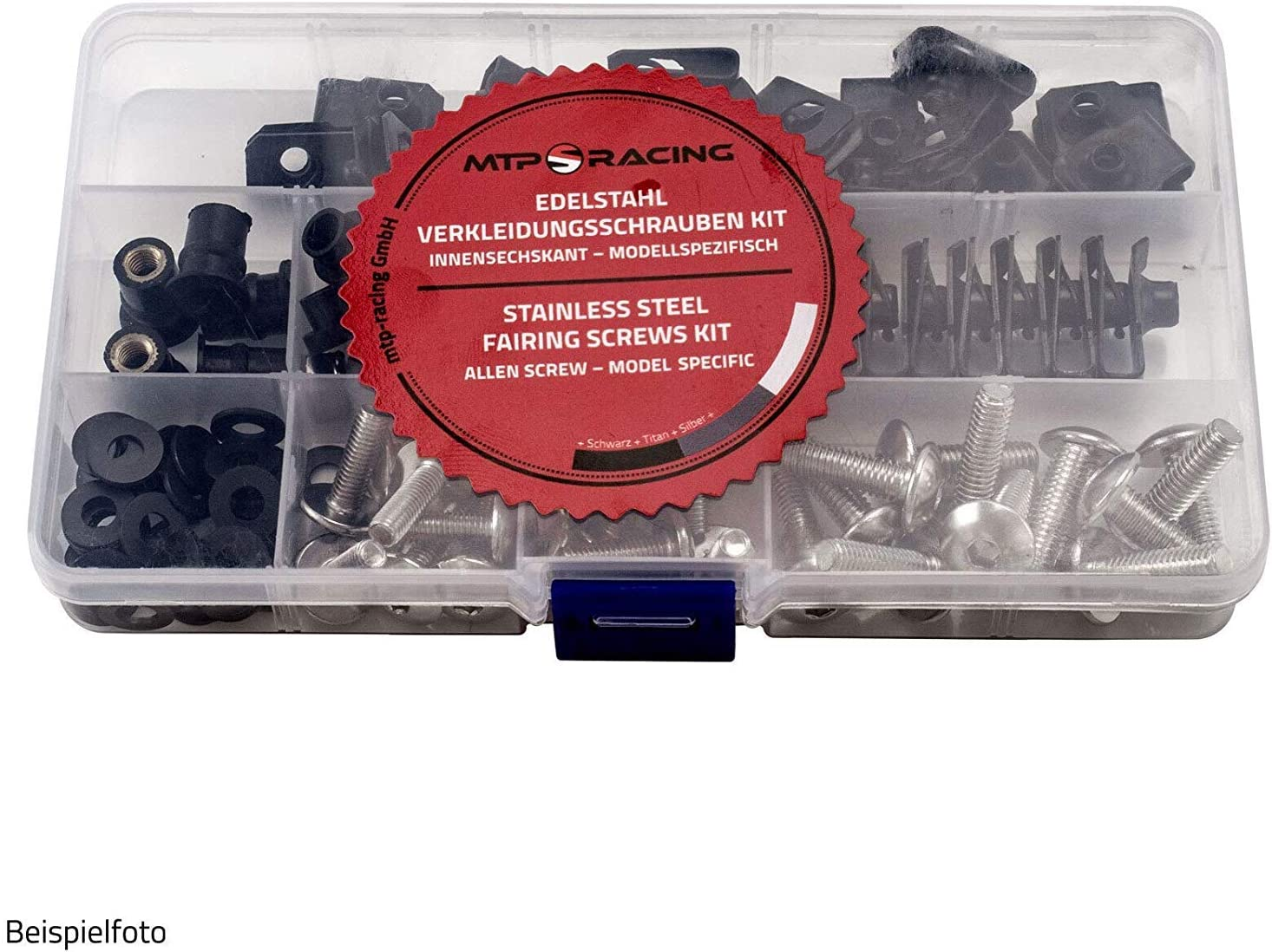 Verkleidungsschrauben OEM Style passend f/ür Kawasaki ZX-6R 98-02 Silber Style 2