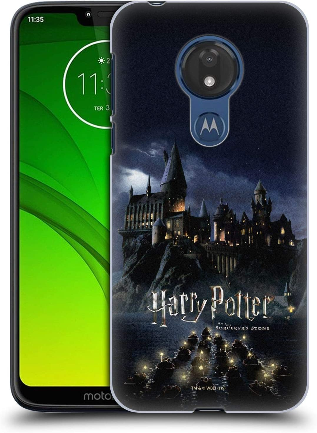 Head Case Designs Officially Licensed Harry Potter Castle Sorcerer S Stone Ii Hard Back Case Compatible With Motorola Moto G7 Power