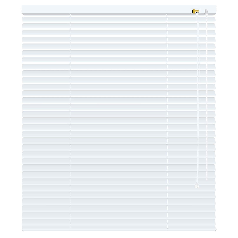 Deko-raumshop Aluminium Jalousie Alu Lamellen Fenster Tür Rollo Weiß Breite 40 bis 220 cm Länge 170 cm 220 cm und 240 cm Metall Jalousette Sonnenschutz Sichtschutz Blickdicht (200 x 170 cm) B01LVTXWHX Jalousien
