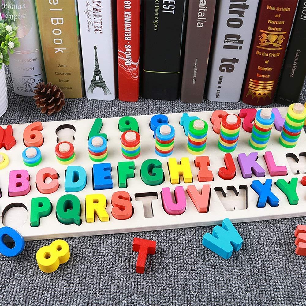 Spielzeugauto Lernspiele Ab 3 Jahren,m/ädchen Spielzeug Geduldsspiel,Kreative Kombination Die Verschiedene Muster Buchstabiert