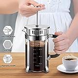 Veken French Press Coffer Tea Maker (34 oz), 304