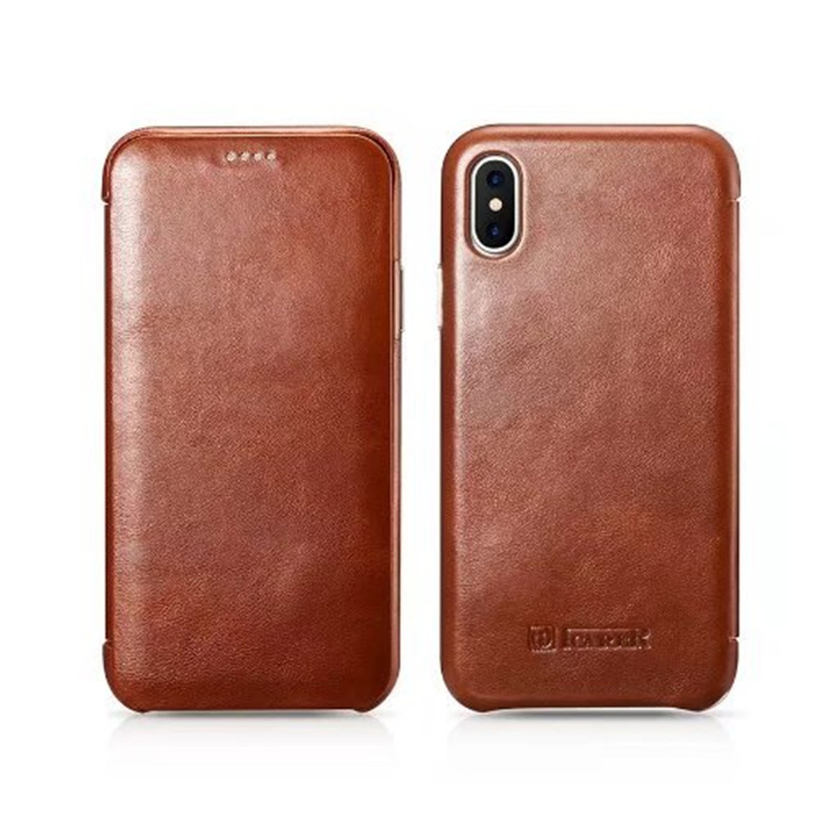 iPhone 7, Red Icarer iPhone 7 Case Ultra Slim Vintage Classic Series Icarercase Genuine Leather Case Folio Cover with Strong Magnetic for Apple iPhone 7