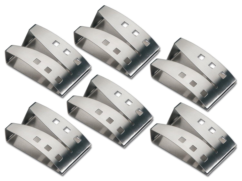 Chg 9824-04 - Sujeta toallas (6 unidades, 7,5 x 5 x 2,3 cm): Amazon.es: Hogar