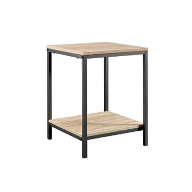 Sauder 420274 North Avenue Side table, L: 15.51  x W: 15.51  x H: 20.00 , Charter Oak finish