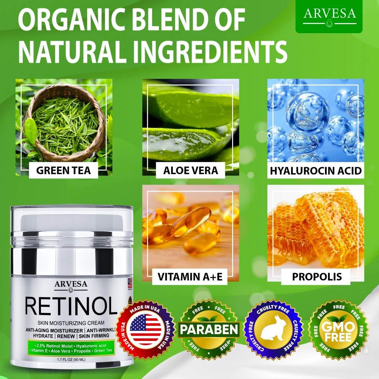 Anti Aging Retinol Moisturizer Cream for Face, Neck