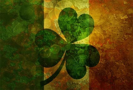 Haoyiyi 10x8ft Happy St Patricks Day Backdrop Luxury Four-Leaf Leave Leaves Clover Clovers Spring Background Photography Adult Kid Baby Shower Party Photo Supplies Portraits Curtains