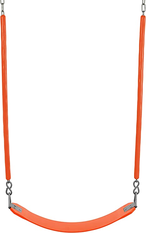 Backyard Belt Swings Swing Seat Treehouse Accessories Tree Swing Anti Rust Chains Plastic Coated With Snap Hooks Heavy Duty Playground Swing Set Accessories And Replacement Many Colors Toys Games