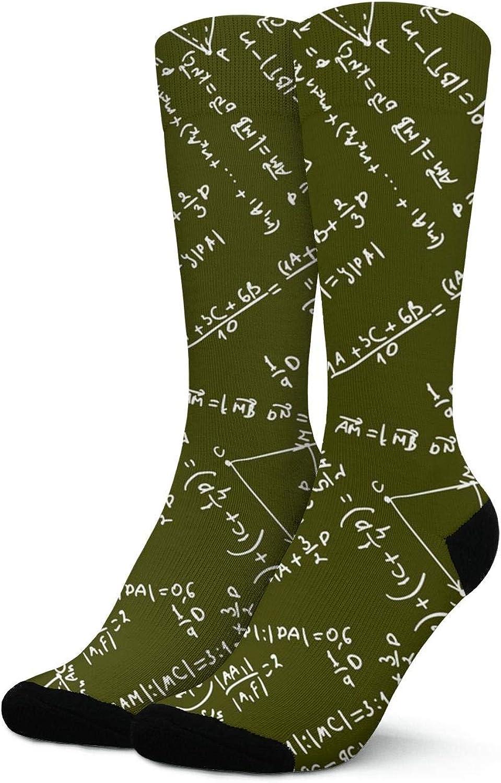 Blackboard With Math Formulars Pattern Fashion Short Crew Sock Athletic Ankle Dress Sock One Size For Men/&Women