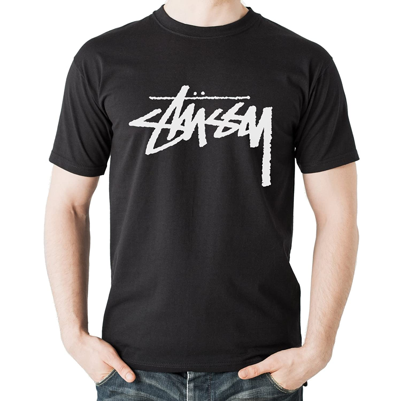 Stussy Oldschool White Style Signature Original Denim Edition Herren T-Shirt