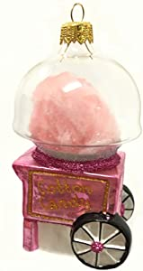 Pinnacle Peak Trading Company Cotton Candy Maker Machine Polish Glass Christmas Tree Ornament Food Made Poland