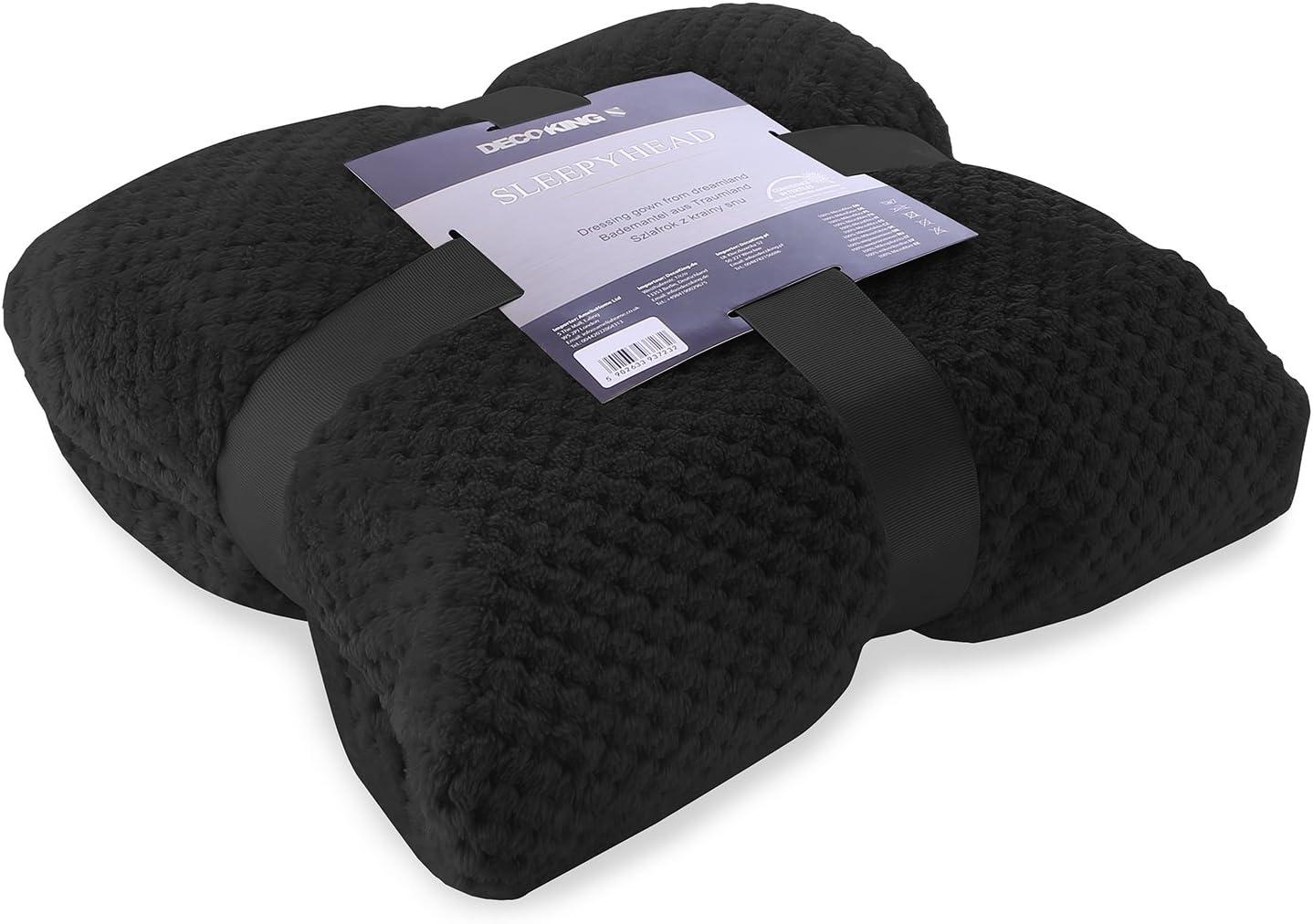 DecoKing Vestaglia XXXL Corto Donna Uomo Unisex Cappuccio Microfibra Soffice Morbido Piacevole Pile Beige Sleepyhead