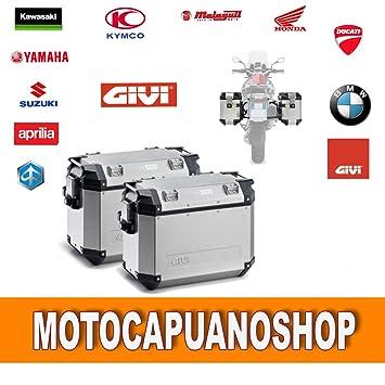Par Maletas Laterales GIVI Monokey Trekker Outback aluminio pl7705cam -: Amazon.es: Coche y moto