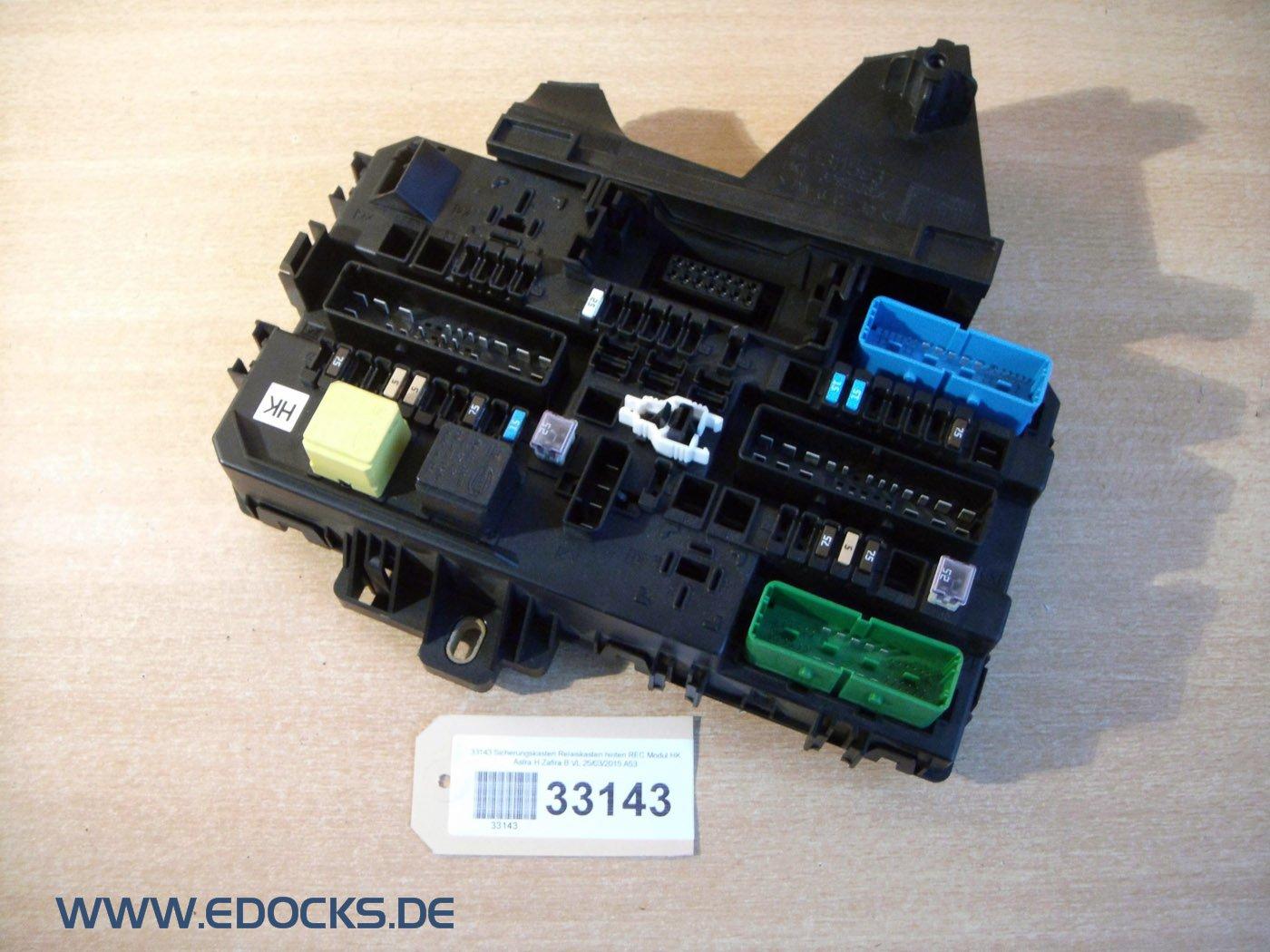 Fuse Box Relay Box Rec Module HK Astra H Zafira B Opel: Amazon.co.uk: Car &  Motorbike