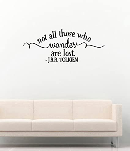 Amazon Vinyl Wall Decals JRR Tolkien Quotes Not All Those Adorable Tolkien Quotes