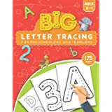 BIG Letter Tracing for Preschoolers and Toddlers ages 2-4: Homeschool Preschool Learning Activities for 3 year olds (Big ABC
