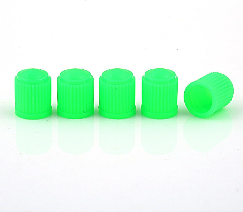 Pack of 5pcs Motorbike GODESON Plastic Valve Stem Cap for Car Trucks and Bicycles Blue