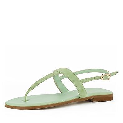 Olimpia Damen Sandale Rauleder Hellgrün 40 Evita Shoes  Spitzenreiter Bestseller 8mrHO