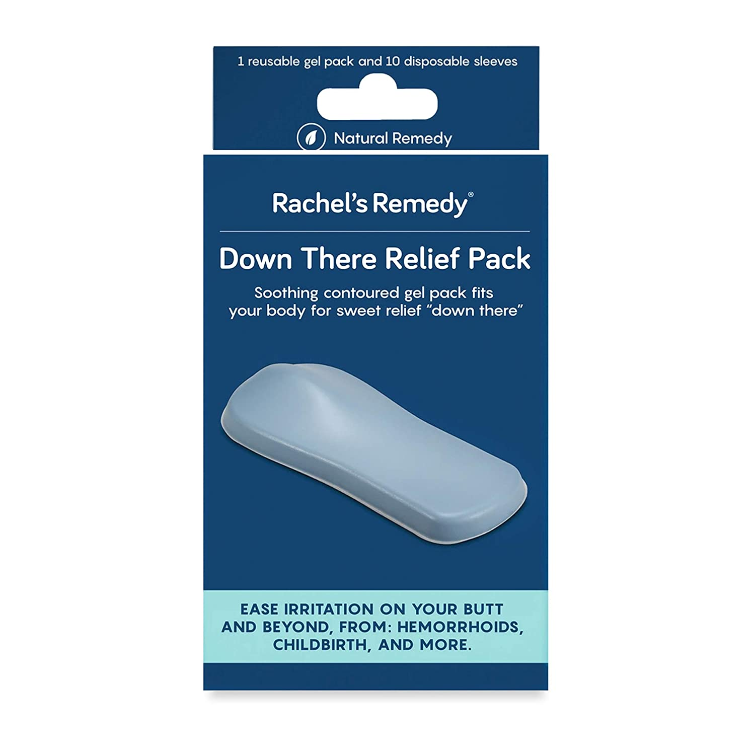 Rachel's Remedy, Down There Relief Pack, Reusable Gel Pad for Cooling and Heating Relief