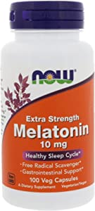 Melatonin, 10 mg, 100 Vcaps by Now Foods (Pack of 2)