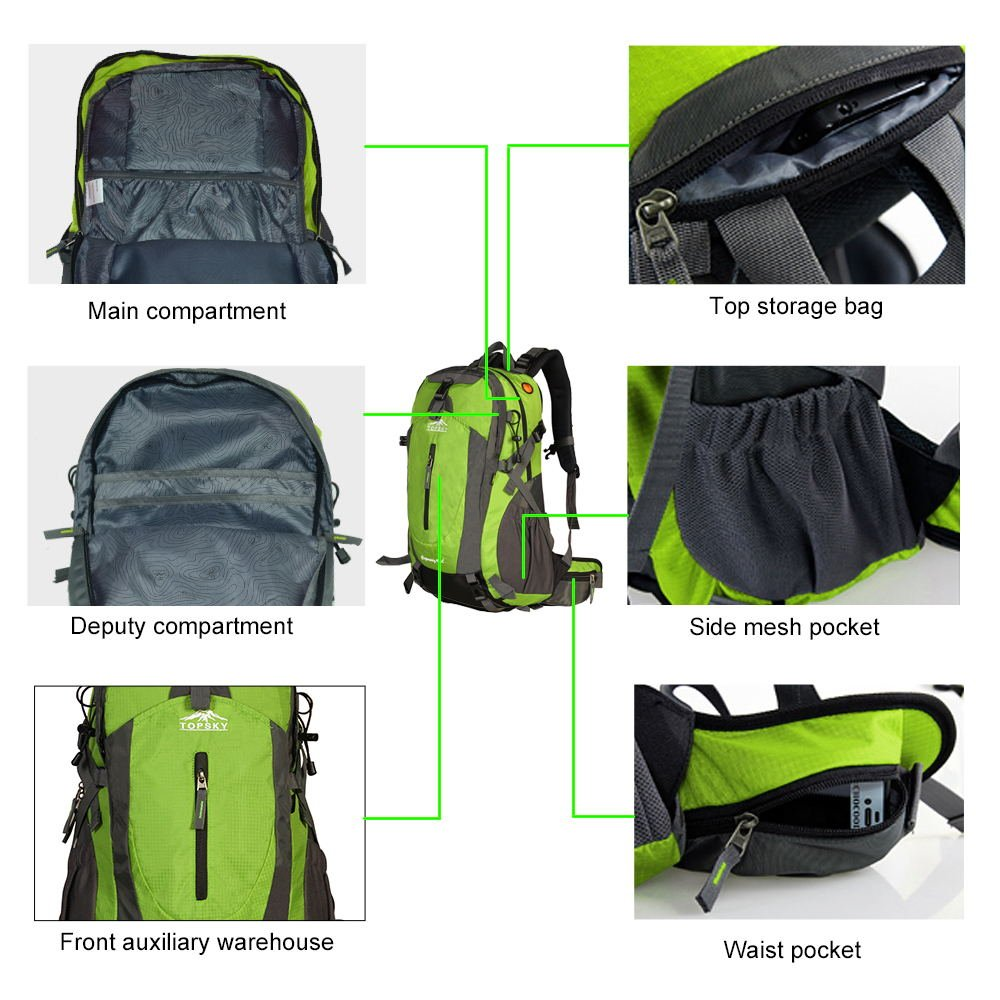 Trekking Rucksack 40L 50L Topsky Internal Frame Hiking Backpack ...